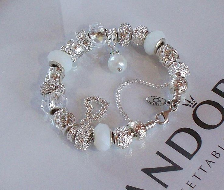 Pandora Wedding Charms | ... Pandora Silver Charm Bracelet Snow White Wedding Crystal Anniversary