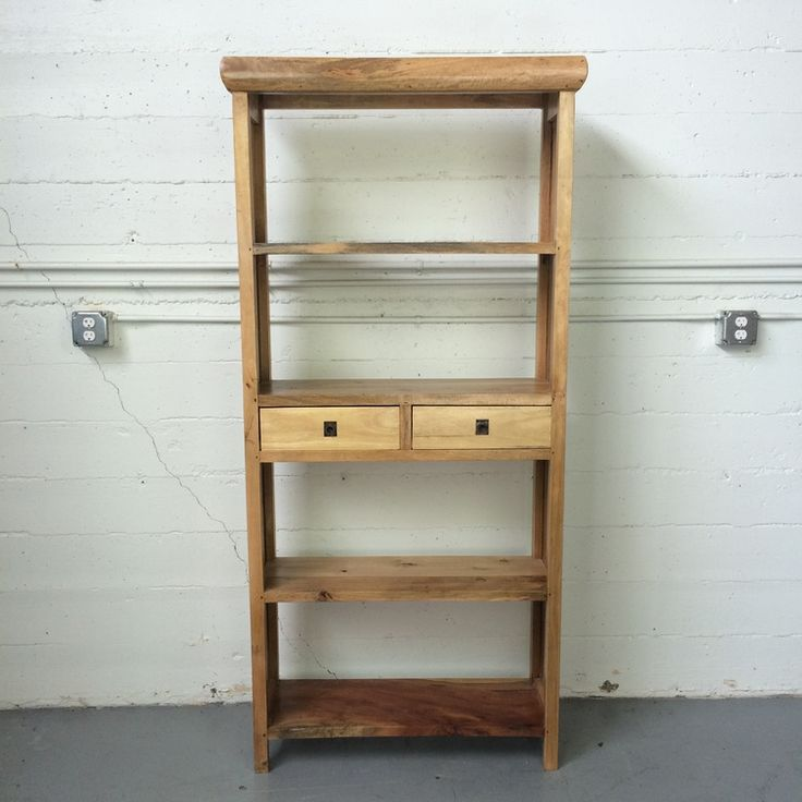 """Sederhana Bookcase """"B"""", made from salvaged wood found in Indonesia."""