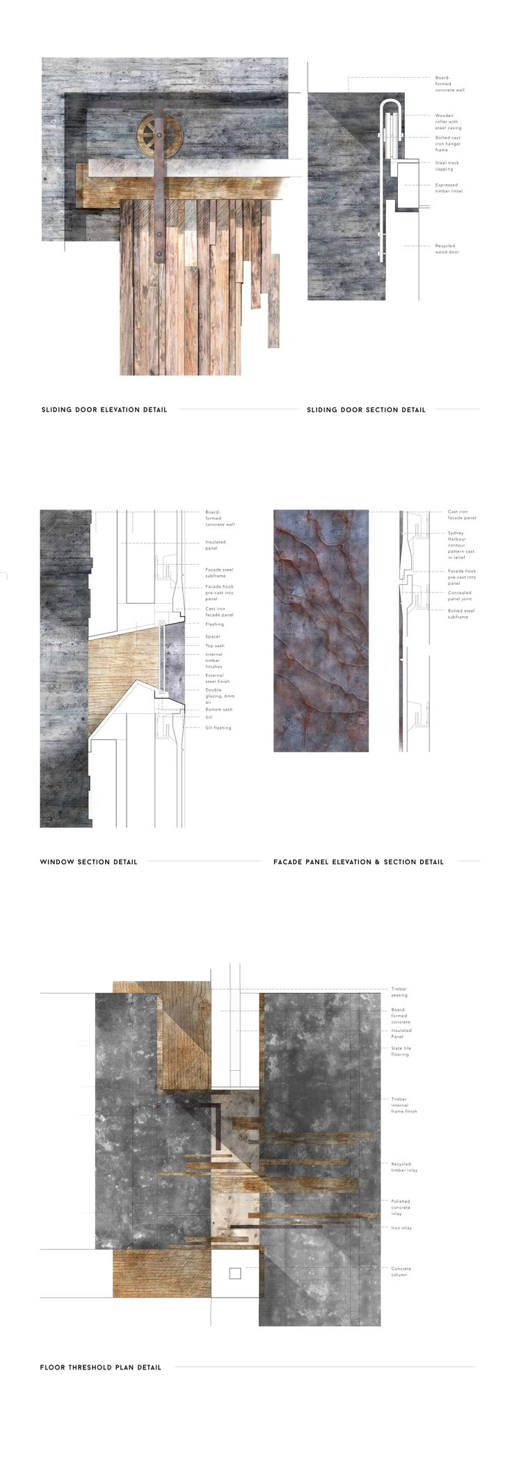 details // Alex Kindlen Final Studio Project #architecture #presentation #drawing #detail