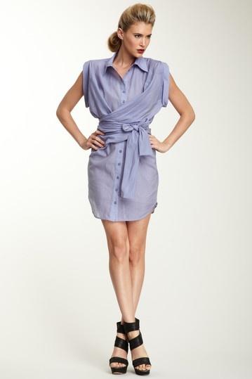 L.A.M.B. Wrap Around Shirt Dress