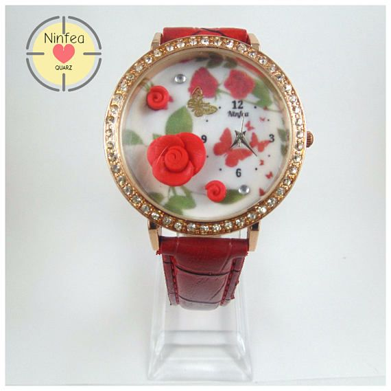 Orologio modello roses  3d Wristwatche Clay roses