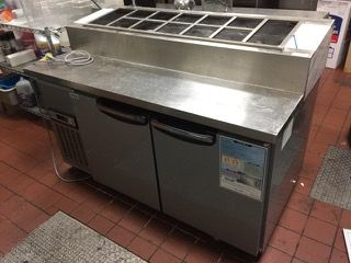 RESTAURANT EQUIPMENT WOOSUNG STAINLESS PREP STATION 40H X 59W X 32D