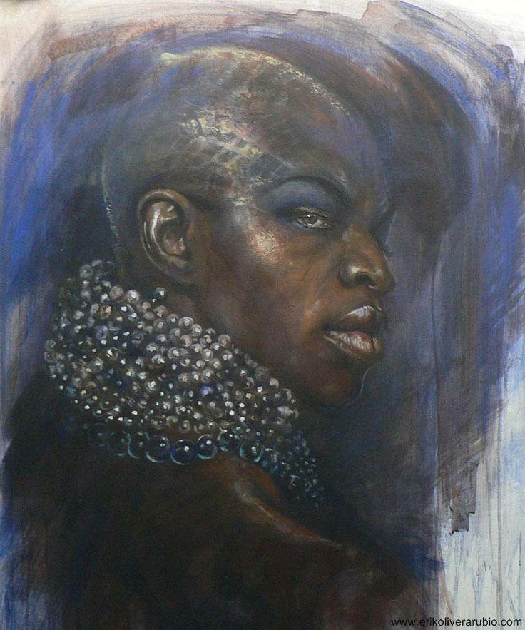 Oricha series | Erik Olivera Rubio OLOKUN 2011 / acrylic canvas / 81x67cm