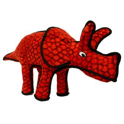 Tuffy Durable Dog Toy Dinosaur Triceratops - T-JR-D-TRI