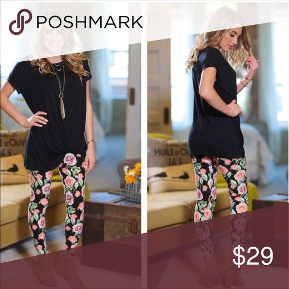☔️INFINITY RAINE Super Soft OS 2-12 Floral Legging These super cute leggings come in OS and accommodate pant sizes 2-12. They are THE SOFTEST pair of leggings you will ever feel against your skin!!! I'm not even joking y'all lol 😂. Look for the matching black tunic or give them a twist with your own style! Hurry supply is limited. Thank you so much for stopping by my closet. Have a nice day. XoXo 😘💋💘💐🔥🐾 - Kat Infinity Raine Pants Leggings