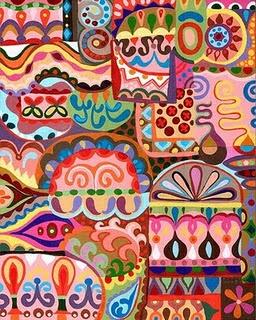 love it!  Thaneeya McArdle: Folk Art, Art Paintings, Art Design, Thaneeya Mcardl, Vibrant Colors, Tribal Art, Bright Colors, Colors Abstract, Indian Patterns