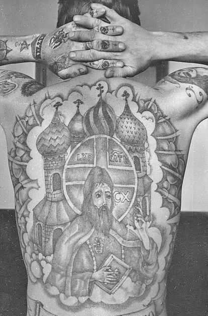 Russian Prison Tattoo... I'm gonna get one temple to finish my back up.