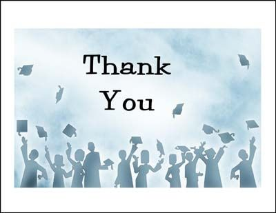 best 25 graduation thank you cards ideas on pinterest thank you template thanks message for. Black Bedroom Furniture Sets. Home Design Ideas