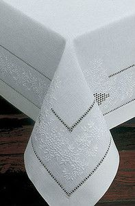 Sferra French Knot Hand Embroidered Table Runner.... Exquisite Embroidery White on White $64.99
