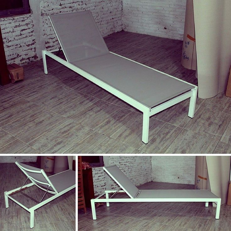 This chaise lounge daybed is constructed from a powder-coated solid aluminum frame and Batyline seat which offers ultimate comfort. This water resistant material provides a harmonious form for unlimited use and its look of minimal chic enhances any outdoor environment. It fully adjustable from completely flat through to an upright reading position. #bali #balifurniture #customfurniture #design #furniture #furniturebali #furnituredesign #furniturejepara #furnituremaker #gardenfurniture…