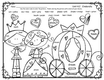 Reading Street Common Core Supplement for First Grade Cinderella Unit 4.2 Color-By-Word -  Spelling Words - FreebieI hope your students enjoy this Reading Street supplement for the first grade story CINDERELLA (Unit 4.2).  Students simply color the picture by following a code.Thank you!Learning With A SmileKeywords:  Pearson Supplement, Reading Street Supplement, Spelling Words, Color By Word Spelling, Cinderella