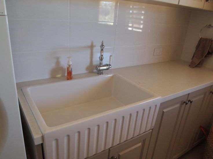 Laundry sink our client chose for their Hampton style laundry