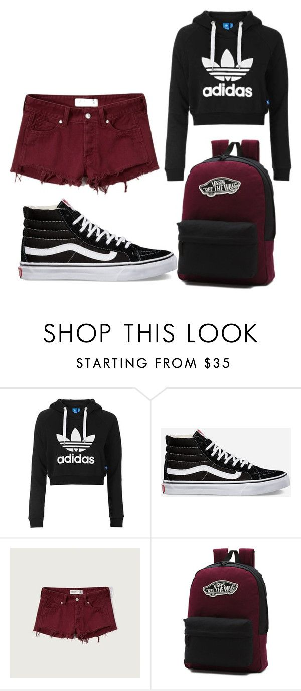 """summer ~ black hightop vans"" by thegirl-and-hercamera ❤ liked on Polyvore featuring Topshop, Vans and Abercrombie & Fitch"