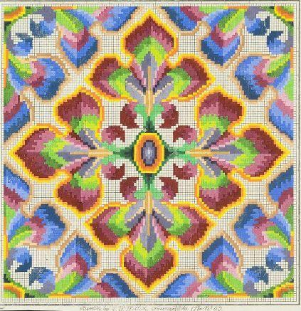 A Geometric Berlin WoolWork Pattern Produced By L W Wittich