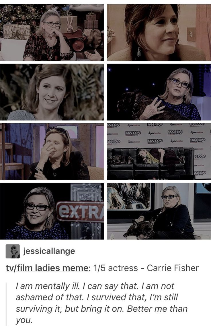 Carrie Fisher is my hero may she forever rest in peace
