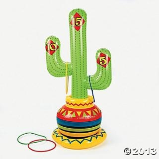 Inflatable Fiesta Ring Toss Game - Oriental Trading
