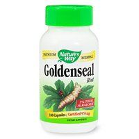 Nature's Way Goldenseal Root - 100 Capsules by Nature's Way. $13.80. 100 Capsules. 50 Servings Per Container. Serving Size: 2. Goldenseal is a very important traditional herb. Goldenseal was listed from 1860 to 1926 in the U.S. Pharmacopoeia. It was primarily used for inflammations of the mucous membranes. Native Americans used Goldenseal both internally and externally and also derived a dye from the root.