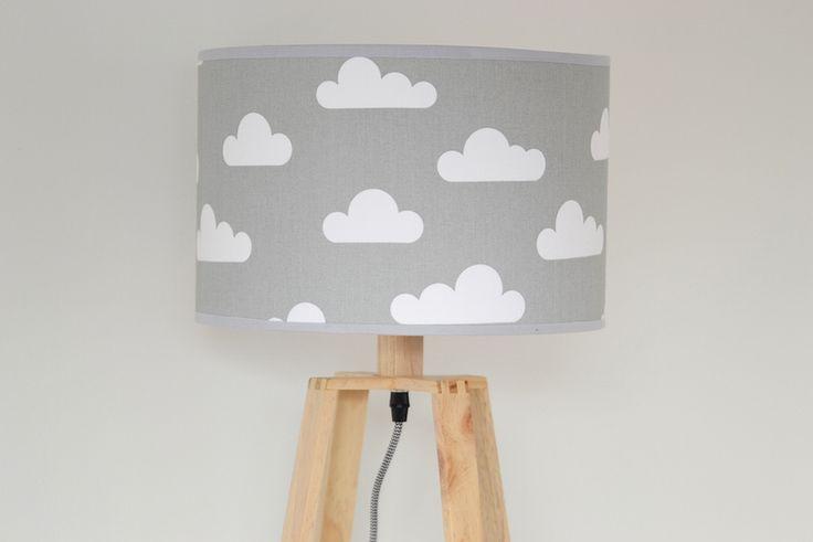 Lampenschirm Wolken von KraftKids auf DaWanda.com