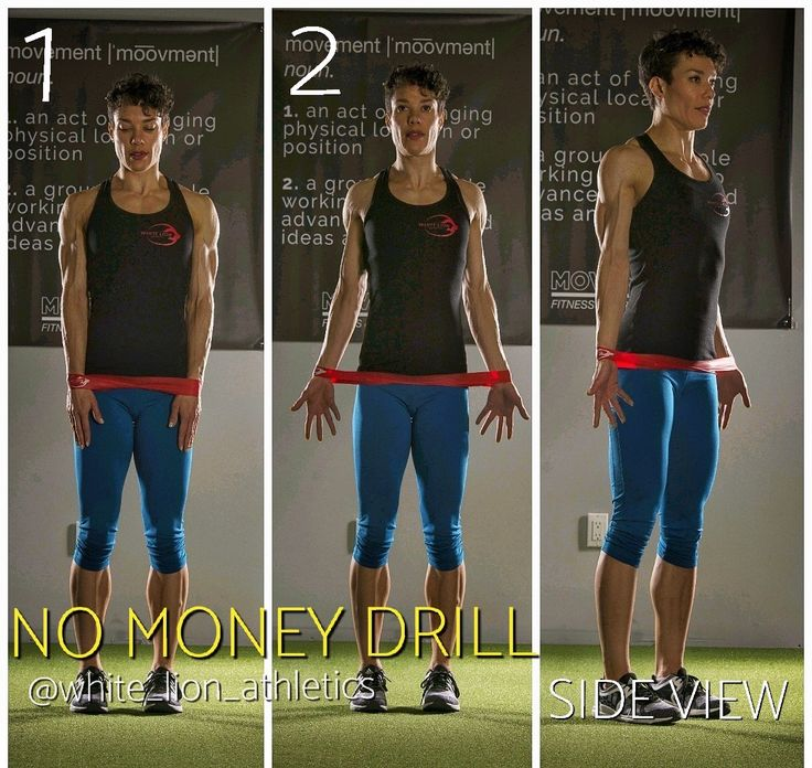 How to perform the No Money DRILL with a Mini Band.