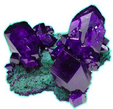 Azurite crystals with Malachite