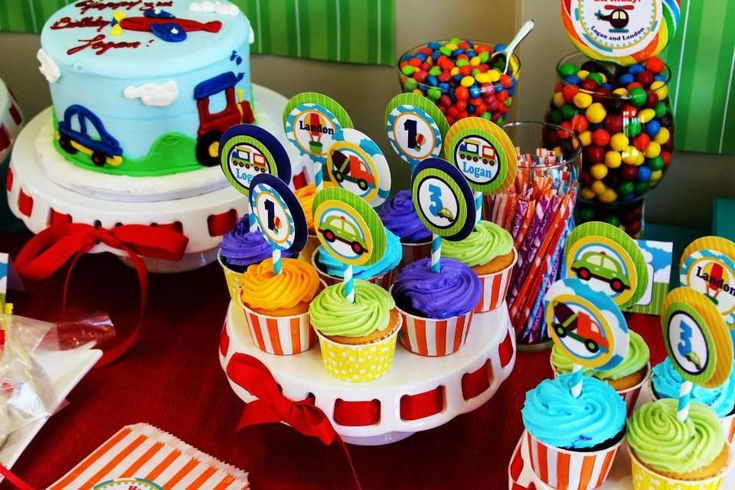 Beep Beep...Choo Choo, It's a party for TWO! | CatchMyParty.com