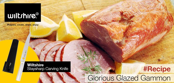 GLORIOUS GLAZED GAMMON. Make your own with this recipe here: https://www.facebook.com/wiltshiresa