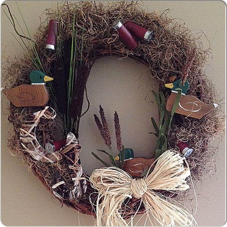 Duck Hunting wreath, decor