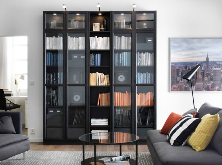 White Bookcases Gl Furniture Walnut Tall Bookcase With Door And Storage Drawer