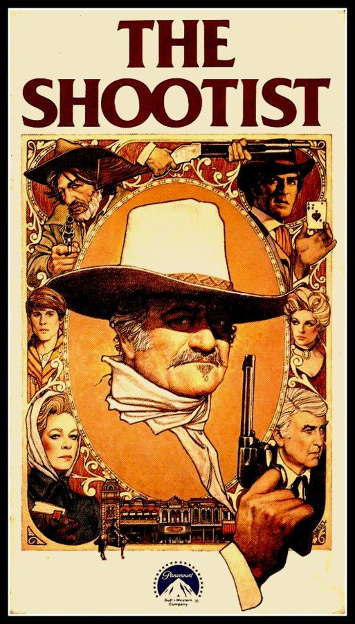 John Wayne Movie Film Poster Print  THE SHOOTIST by BloominLuvly
