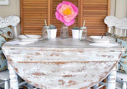 """""""Дачный"""" стол в стиле шебби шик своими руками"""