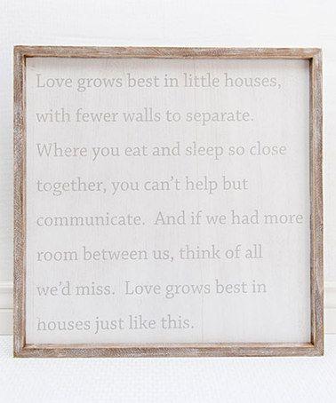 'Love Grows' Framed Wall Sign #zulily #zulilyfinds