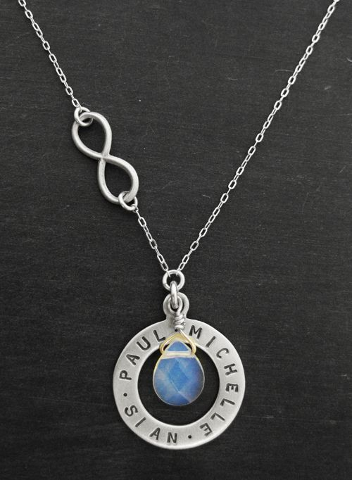 Infinite Love Family Necklace with Opalite. www.luxe-design.com