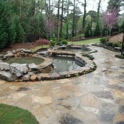 32 best koi pond designs images on pinterest backyard for Custom koi ponds