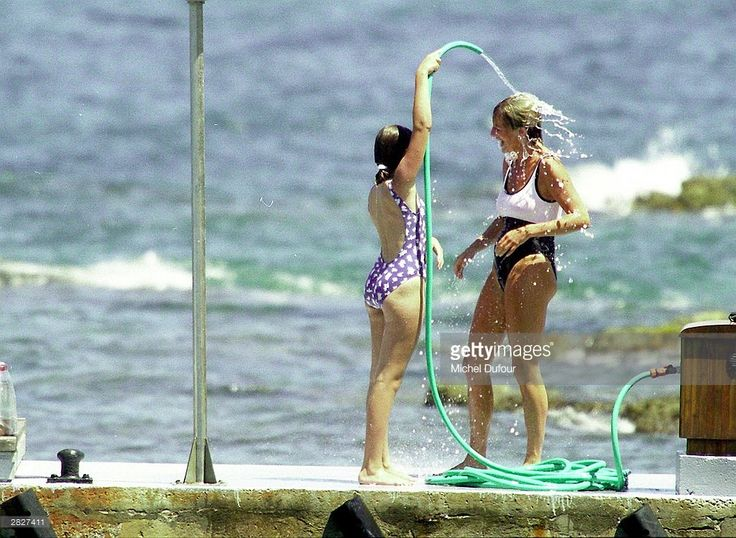 Diana, Princess Of Wales is seen in St Tropez in the summer of 1997, shortly before Diana and boyfriend Dodi were killed in a car crash in Paris on August 31, 1997. The inquests into both of their deaths are due to start in early 2004.