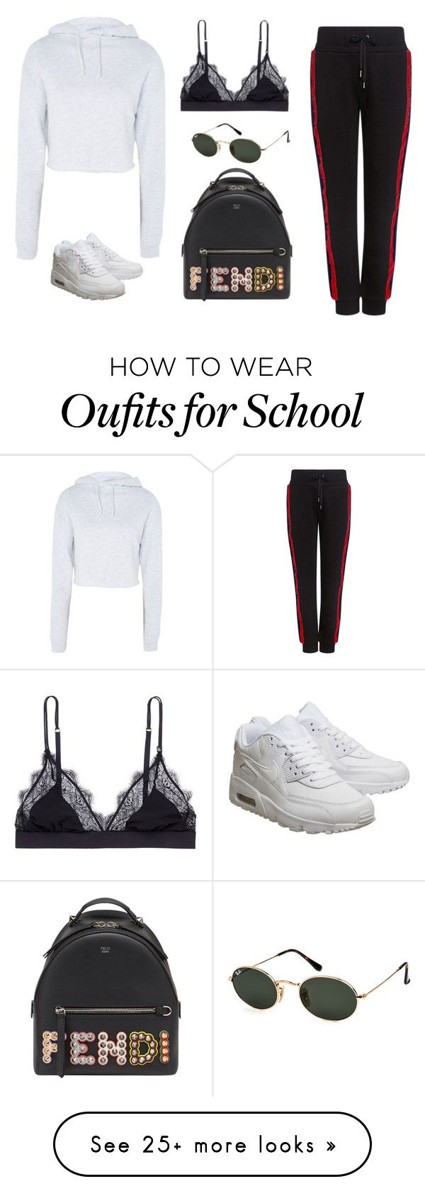 """""""Untitled #2040"""" by humlan17 on Polyvore featuring Topshop, LoveStories, Public School, Fendi, NIKE and Ray-Ban"""