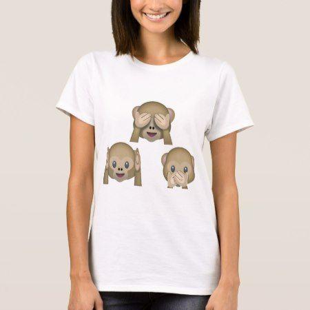 Three Monkey Emoji TShirt. T-Shirt - tap, personalize, buy right now!