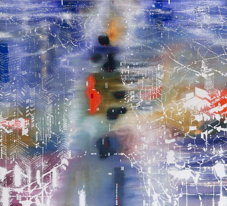 JON CATTAPAN (born 1956) SALT LINE, 2003 oil on linen 160.0 x 180.0 cm signed and dated verso: Cattapan 2003