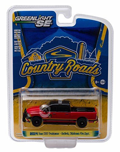 2014 RAM 1500 TRADESMAN (GUTHRIE, OKLAHOMA FIRE DEPARTMENT) * Country Roads Series 14 * 2016 Greenlight Collectibles 1:64 Scale Die-Cast Vehicle