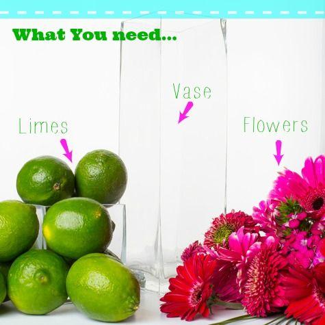 DIY Floral Lime Centerpiece