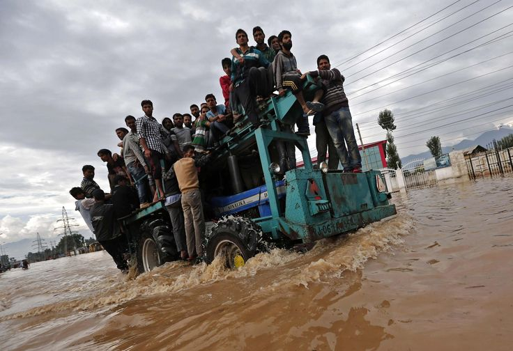 Floods in Pakistan and India have put more than half a million people in peril and left thousands homeless.