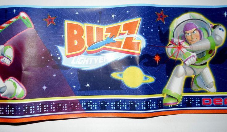 Toy Story Buzz Lightyear Wallpaper Border 3D w/Glasses