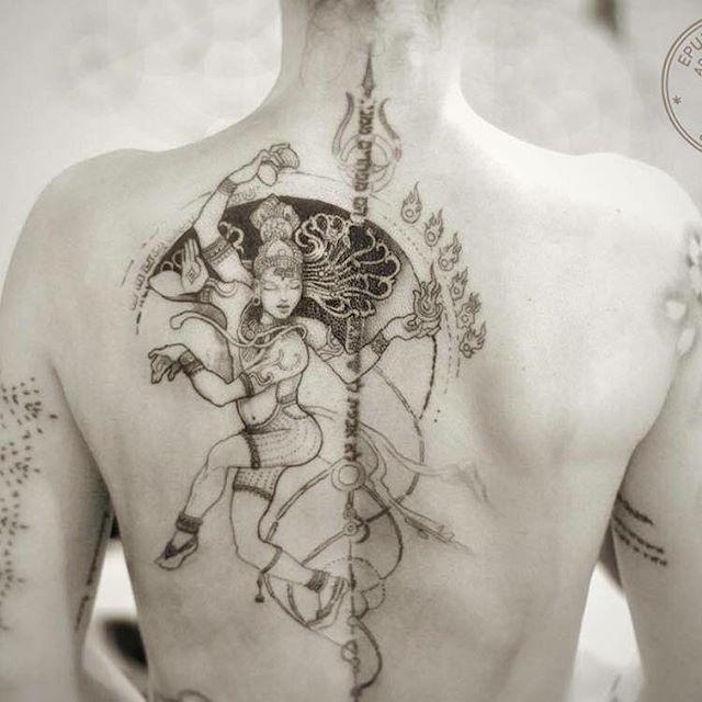 Tattoo in progress. 1rst session for Priscila. #shiva #dancingshiva #covertattoo…