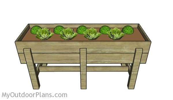 GO to this website: http://myoutdoorplans.com/planter/waist-high-raised-garden-bed-plans/