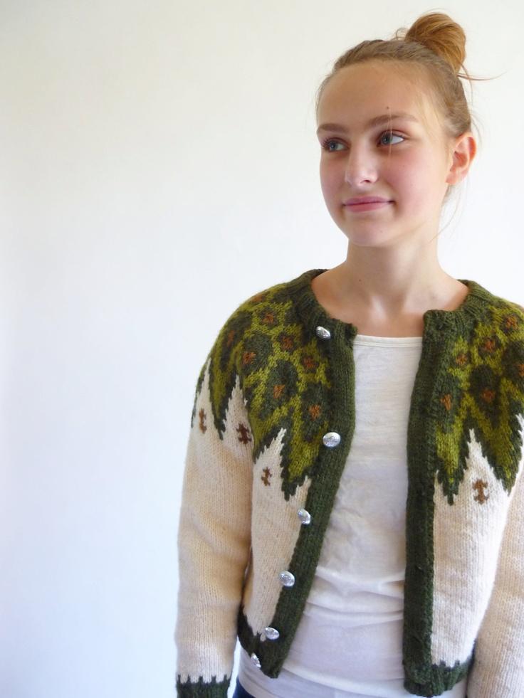 nordic sweater - cropped icelandic cardigan. $42.00, via Etsy.