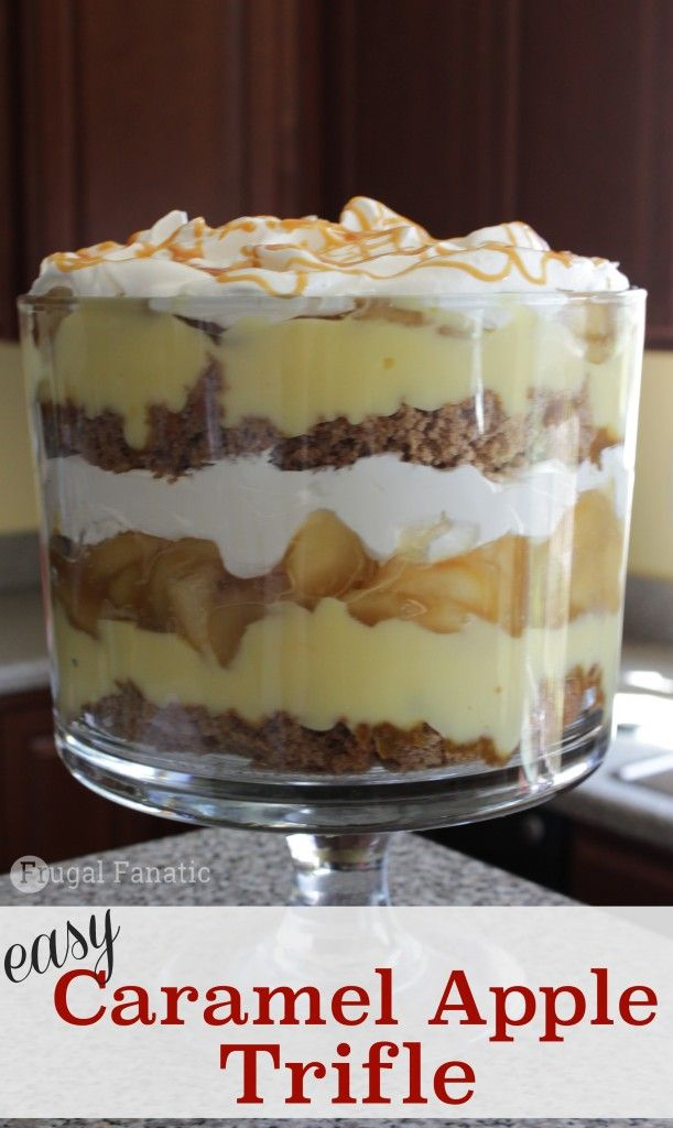 Try this simple and delicious Caramel Apple Trifle recipe. It is perfect for any occasion.