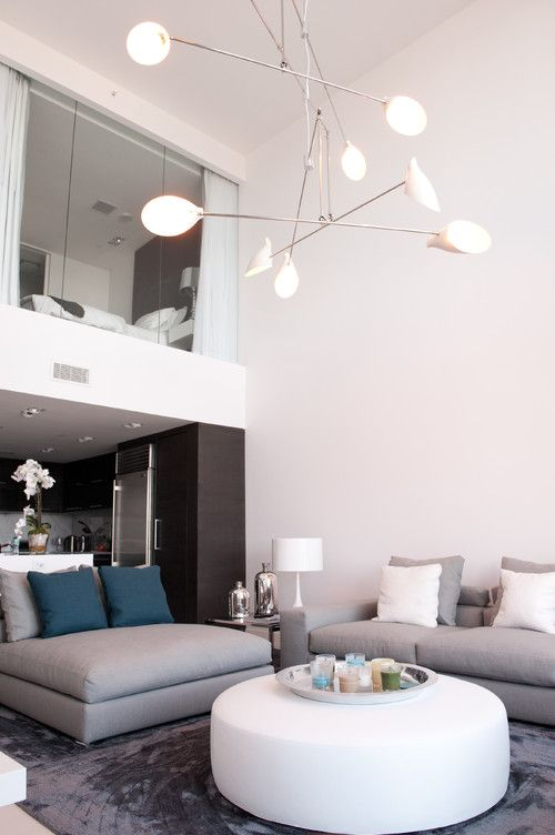 Loft Apartment With Enclosed Sleeping Loft Over Kitchen