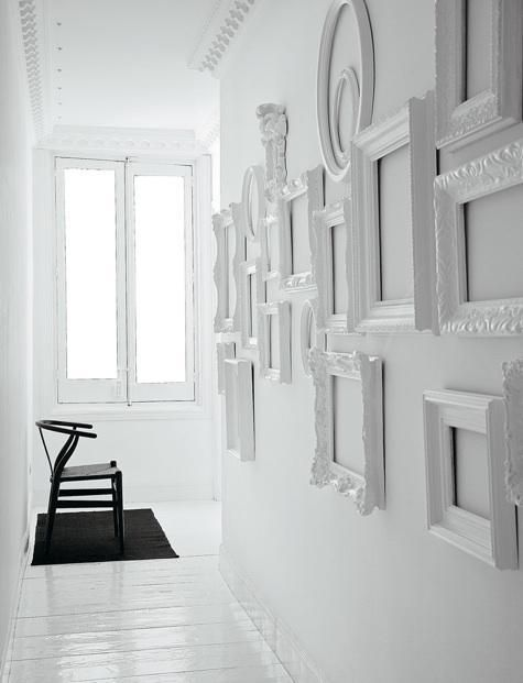 Vintage Mirrors Painted White