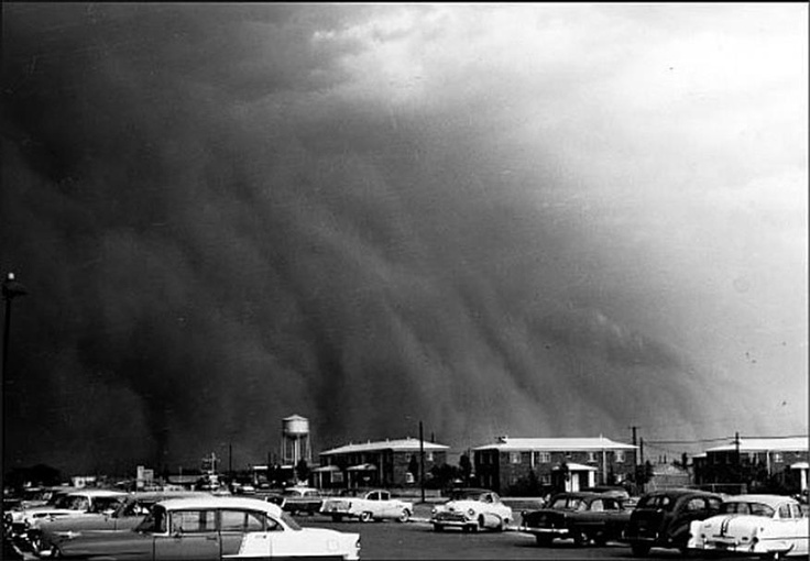 Dust Storm, San Angelo, Texas, 1955