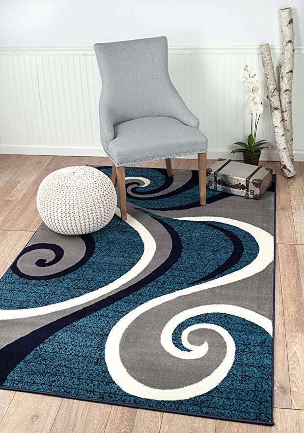 Summit Ck E6ir Kepy New 32 Swirl Blue Navy White Light Gray Area Rug Abstract Carpet Sizes Available 8 Contemporary Area Rugs Carpet Size Blue Carpet Bedroom