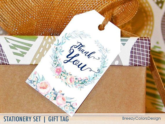 Seller Thank You Tags Floral Gift Notes Printable Bridal Etsy Gift Tags Printable Gifts Gift Tags